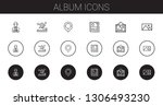 album icons set. collection of... | Shutterstock .eps vector #1306493230