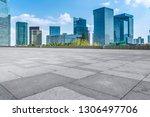 empty square floor tiles and... | Shutterstock . vector #1306497706