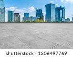 empty square floor tiles and... | Shutterstock . vector #1306497769