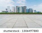 empty plaza floor tiles and the ... | Shutterstock . vector #1306497880