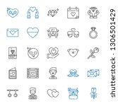 romance icons set. collection... | Shutterstock .eps vector #1306501429