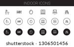 indoor icons set. collection of ...   Shutterstock .eps vector #1306501456