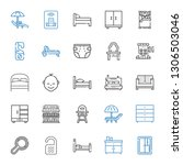 bed icons set. collection of... | Shutterstock .eps vector #1306503046