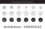 guarantee icons set. collection ... | Shutterstock .eps vector #1306503163