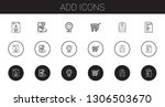 add icons set. collection of... | Shutterstock .eps vector #1306503670
