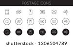 postage icons set. collection...