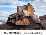 huge rusty pieces of... | Shutterstock . vector #1306513663