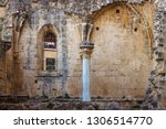 ruins of the abbey of bellapais ... | Shutterstock . vector #1306514770