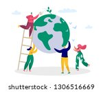 earth day man save green planet ... | Shutterstock .eps vector #1306516669