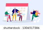 office business manager person... | Shutterstock .eps vector #1306517386