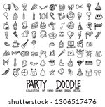 set of party icons drawing... | Shutterstock .eps vector #1306517476
