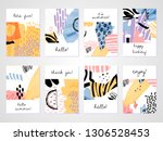 abstract colorful collage... | Shutterstock .eps vector #1306528453