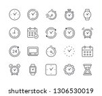 simple set of time and clock... | Shutterstock .eps vector #1306530019