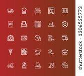editable 25 mixer icons for web ... | Shutterstock .eps vector #1306535773