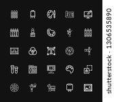 editable 25 palette icons for... | Shutterstock .eps vector #1306535890