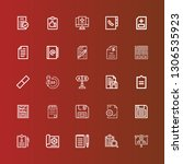 editable 25 clipboard icons for ... | Shutterstock .eps vector #1306535923