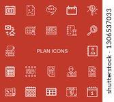 editable 22 plan icons for web... | Shutterstock .eps vector #1306537033