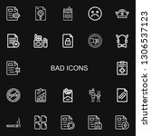 editable 22 bad icons for web...   Shutterstock .eps vector #1306537123