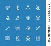 editable 16 molecule icons for... | Shutterstock .eps vector #1306537126