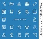 editable 22 linen icons for web ... | Shutterstock .eps vector #1306538296