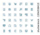 editable 36 add icons for web... | Shutterstock .eps vector #1306538413