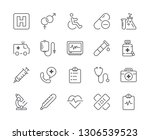 simple set of medical line icon.... | Shutterstock .eps vector #1306539523