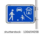 home zone entry road sign on... | Shutterstock . vector #130654058