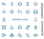 editable 22 member icons for...   Shutterstock .eps vector #1306544569