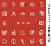 editable 22 bet icons for web... | Shutterstock .eps vector #1306544680
