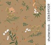 blossom floral seamless pattern.... | Shutterstock .eps vector #1306549339