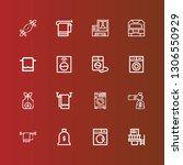 editable 16 linen icons for web ... | Shutterstock .eps vector #1306550929
