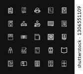 editable 25 literature icons... | Shutterstock .eps vector #1306551109