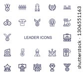 editable 22 leader icons for... | Shutterstock .eps vector #1306551163