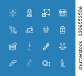 editable 16 body icons for web... | Shutterstock .eps vector #1306553506