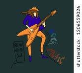 vector illustration. rock... | Shutterstock .eps vector #1306559026