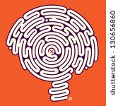 Stock vector amazing brain maze 130656860