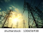 high voltage power transmission ... | Shutterstock . vector #130656938
