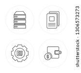 4 line data storage  eu ... | Shutterstock .eps vector #1306573273