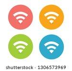 wifi icon vector   Shutterstock .eps vector #1306573969