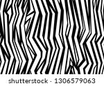 zebra print vector. seamless... | Shutterstock .eps vector #1306579063
