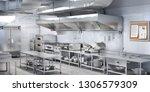 industrial kitchen. restaurant... | Shutterstock . vector #1306579309