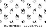 dog seamless pattern french... | Shutterstock .eps vector #1306579333