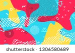 90s background. pattern of... | Shutterstock .eps vector #1306580689