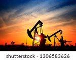 the oil pump  industrial... | Shutterstock . vector #1306583626