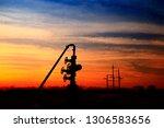 the oil pump  industrial... | Shutterstock . vector #1306583656