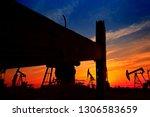the oil pump  industrial... | Shutterstock . vector #1306583659