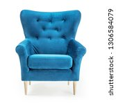Turquoise Arm Chair Isolated On ...