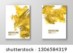 vector white and gold design... | Shutterstock .eps vector #1306584319