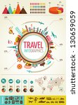 travel infographics with data... | Shutterstock .eps vector #130659059