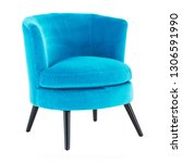 Teal Blue Upholstered Chair...